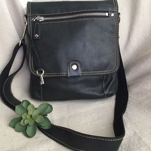 Fossil black leather Crossbody NWOT